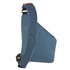 Рюкзак BagHouse городской одналямка  23х31х5 синий полиестер  ксНЛ1692син, фото 3