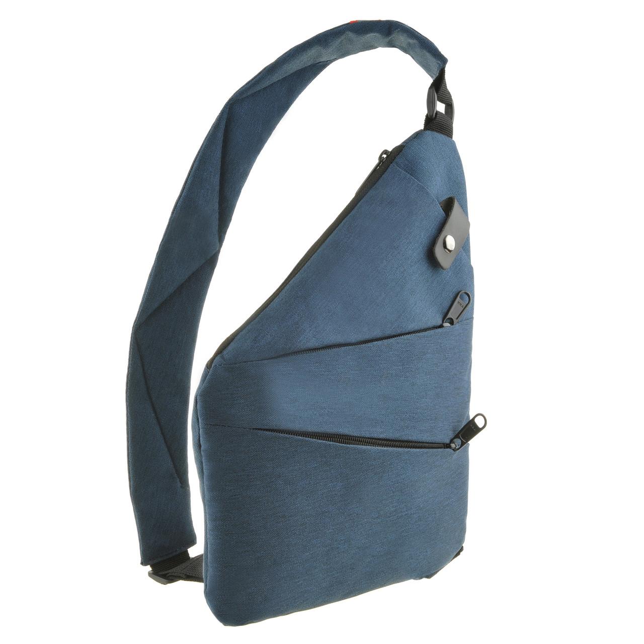 Рюкзак BagHouse городской одналямка  23х31х5 синий полиестер  ксНЛ1692син