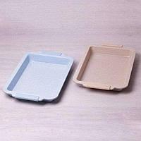Форма для запекания с антипригарным мраморным покрытием и силиконовыми ручками 40.5*27*4.5 см Kamille a6036