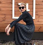 """Женский стильный костюм с юбкой 700 """"Трикотаж Люрекс Плиссе"""" в расцветках, фото 6"""