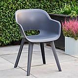 Стул садовый уличный Allibert Akola Duo Dining Chair Graphite ( графит ), фото 7
