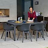 Стул садовый уличный Allibert Akola Duo Dining Chair Graphite ( графит ), фото 6
