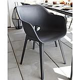 Стул садовый уличный Allibert Akola Duo Dining Chair Graphite ( графит ), фото 8