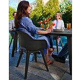 Стул садовый уличный Allibert Akola Duo Dining Chair Graphite ( графит ), фото 9