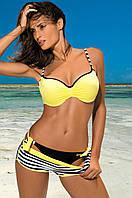 Купальник-тройка M 434 VERONICA: лиф, шортики, танга (S-L в расцветках) желтый, S