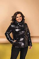 Куртка женская стеганая плащевка-синтепон 150, весенняя короткая на кнопках,в размере 56-58