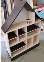 Кукольный дом серия «Эконом Макси» Design Service Двухцвет (В*Ш*Г) 1195*958*254мм