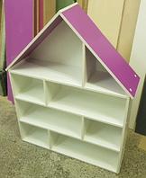 Кукольный дом серия «Эконом Макси» Design Service Двухцвет (В*Ш*Г) 1195*958*254мм белый/фиолетовый