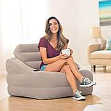 """Надувное кресло Intex 68587 """"Accent Chair - Серое"""" 97х107х71см с подстаканником, фото 3"""