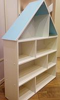 Кукольный дом серия «Эконом Макси» Design Service Двухцвет (В*Ш*Г) 1195*958*254мм белый/голубой