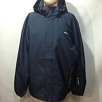 Ветровка куртка мужская (больших размеров) легкая в стиле RLX / темно-синяя