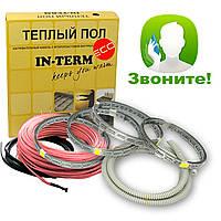 Теплый пол электрический Греющий кабель In-term ECO 64 м. (6,4 - 10,2 м²) 1300 Вт, фото 1