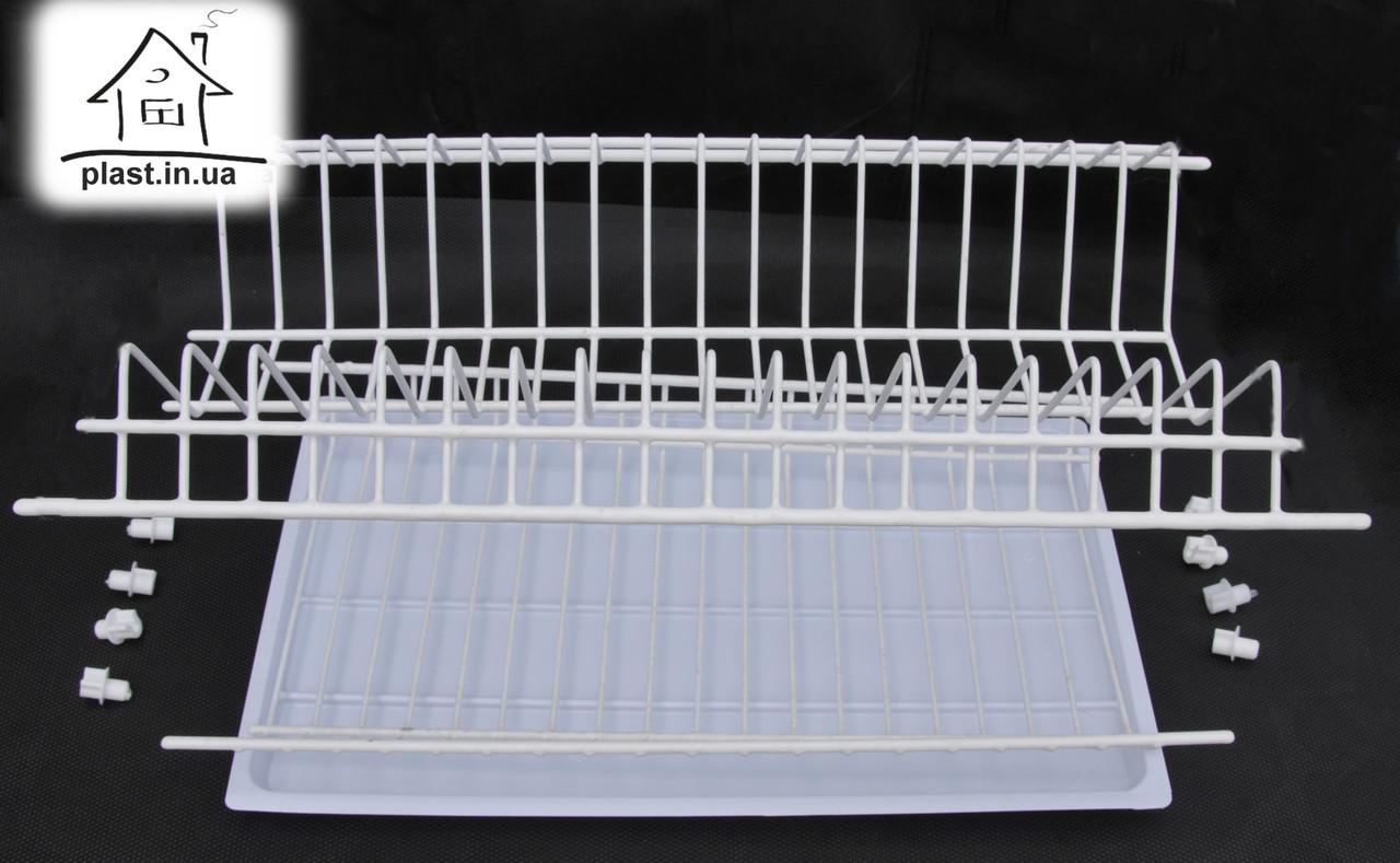 Сушарка для посуду в шафу 40 см, дворівнева