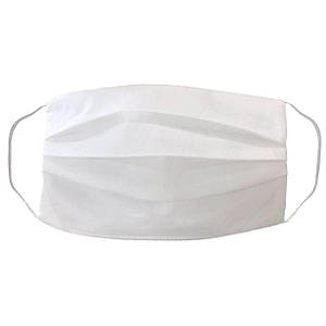 Маска защитная  трехслойная одноразовая 9х18 белый