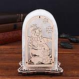 Соляной светильник Арка Снеговик+мышка, фото 3