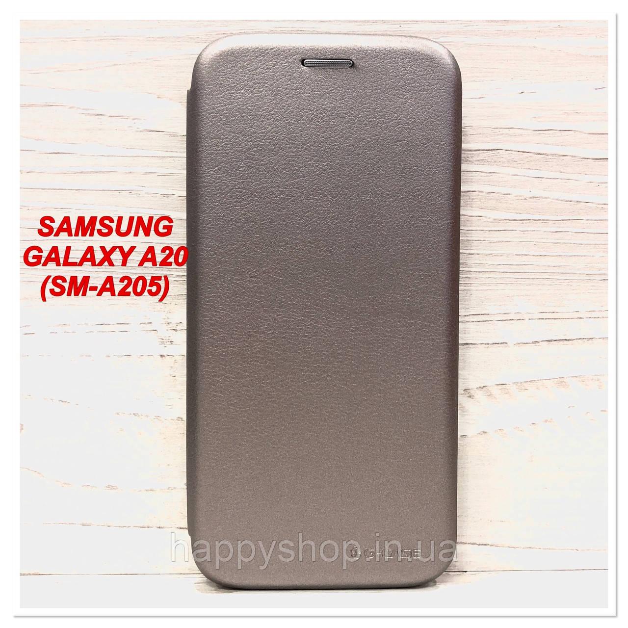 Чехол-книжка G-Case для Samsung Galaxy A20 (SM-A205) Серый