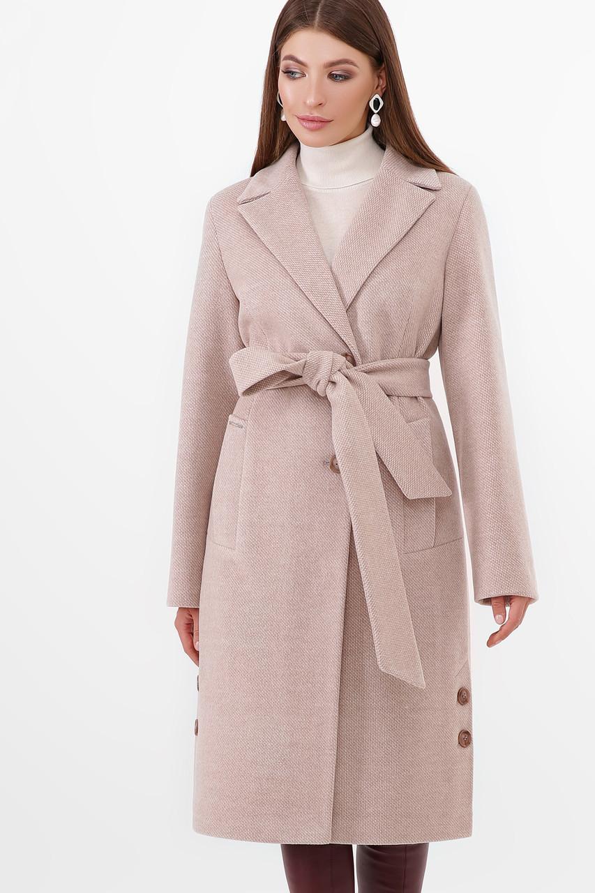 Пальто женское светло бежевое ПМ-104-d