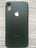 Чехол силиконовый Soft Case для iPhone XS MAX (Хаки)