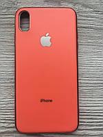 Чехол силиконовый Soft Case для iPhone XS MAX (Оранжевый)