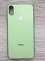 Чехол силиконовый Soft Case для iPhone XS MAX (Салатовый)