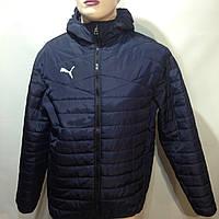 Мужская весенняя  куртка легкая в стиле Puma /  демисезонная куртка темно-синяя