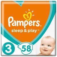 Подгузник Pampers Sleep & Play Midi Размер 3 (6-10 кг), 58 шт (4015400224211)