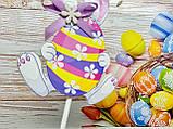 Декор на палочке Кролик с пасхальным яйцом, фото 3