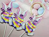 Декор на палочке Кролик с пасхальным яйцом, фото 4