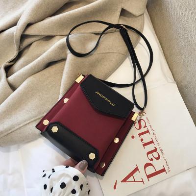 Женская темно-красная сумка JINGPINPIJU