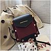 Женская темно-красная сумка JINGPINPIJU, фото 3