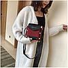 Женская темно-красная сумка JINGPINPIJU, фото 5