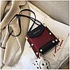 Женская темно-красная сумка JINGPINPIJU, фото 6