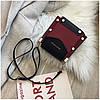Женская темно-красная сумка JINGPINPIJU, фото 7