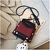 Женская темно-красная сумка JINGPINPIJU, фото 9