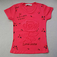 Дитячі футболки для дівчаток 2-8 років
