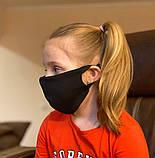 Комплект 10 шт. Многоразовая маска защитная D9424 черная, фото 6