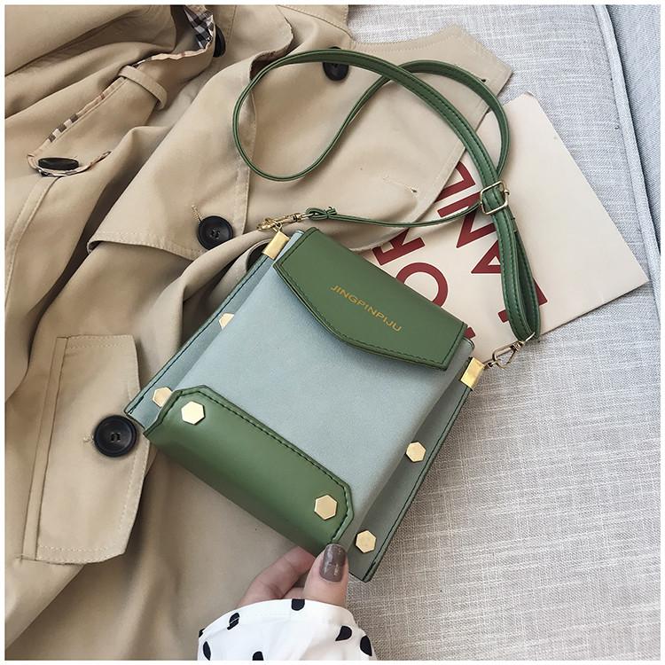 Женская зеленая сумка JINGPINPIJU