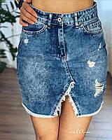 Женская молодежная мини юбка джинсовая