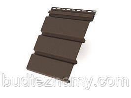 """Потолочный сайдинг (Софит) - коричневый 3000х305 мм; 0,915 м.кв/шт, """"RAINWAY"""" Украина."""