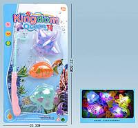 Рыбалка магнитная удочка, рыбки со светом, на планшете 37,5*20см (96шт/2)