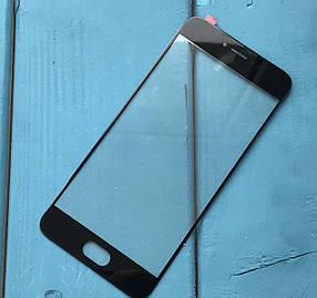 Стекло дисплея для Meizu Pro 6 черное (оригинал Китай)