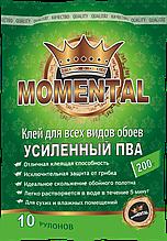 """Клей для обоев """"Мomental"""" зеленый 200гр."""