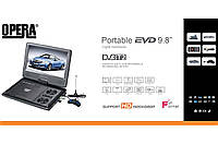 Портативный телевизор DVD Opera тюнер Т2 DVB TV-958 USB и аккумулятором