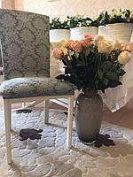 Чехлы на стулья жаккардовые MILANO LUX (натяжные) набор 6-шт капучино № 5