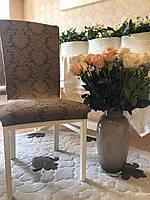 Чехлы без оборки на стулья жаккардовые MILANO LUX натяжные набор 6-шт коричневые № 6