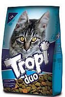 Сухой корм для кошек TROPI Duo с говядиной, курицей и овощами 10 кг