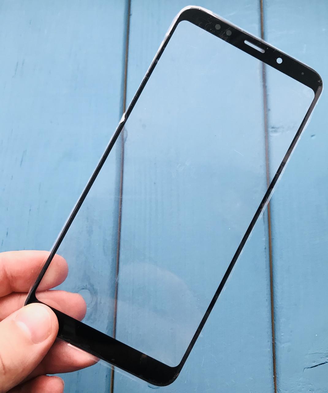 Стекло дисплея для Xiaomi Redmi 5 Plus черное (оригинал Китай)