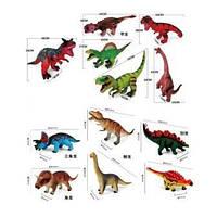 Динозавр резиновый, муз., 12 видов, в пак. 55*42см (48шт)