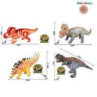 Динозавр резиновый, муз.4в., пак. 34*42см (72шт)
