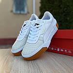 Женские кожаные кроссовки Puma Cali Bold (бело-бежевые) 20023, фото 3